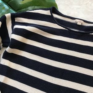 GAP Sweaters - 💫Gap Blue & White Striped Cable Knit Sweater Sz S